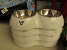 4 x Small Dog/Cat Bowls . Look Unused