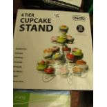 Asab 4 Tier Cupcake Stand. Boxed but unchecked