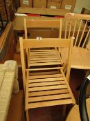 La Redoute Set of 2 Foldaway Chairs. 1 Slat Has Snapped But Still Usable. Unused