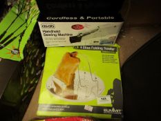 2x Various Items Being: Summit - 4 Slice Folding Toaster - Boxed. 1x Asab - Handheld sewing