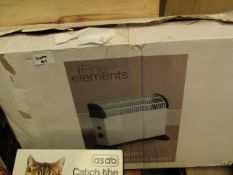Fine Elements 2000w Convector heater. Boxed but untested