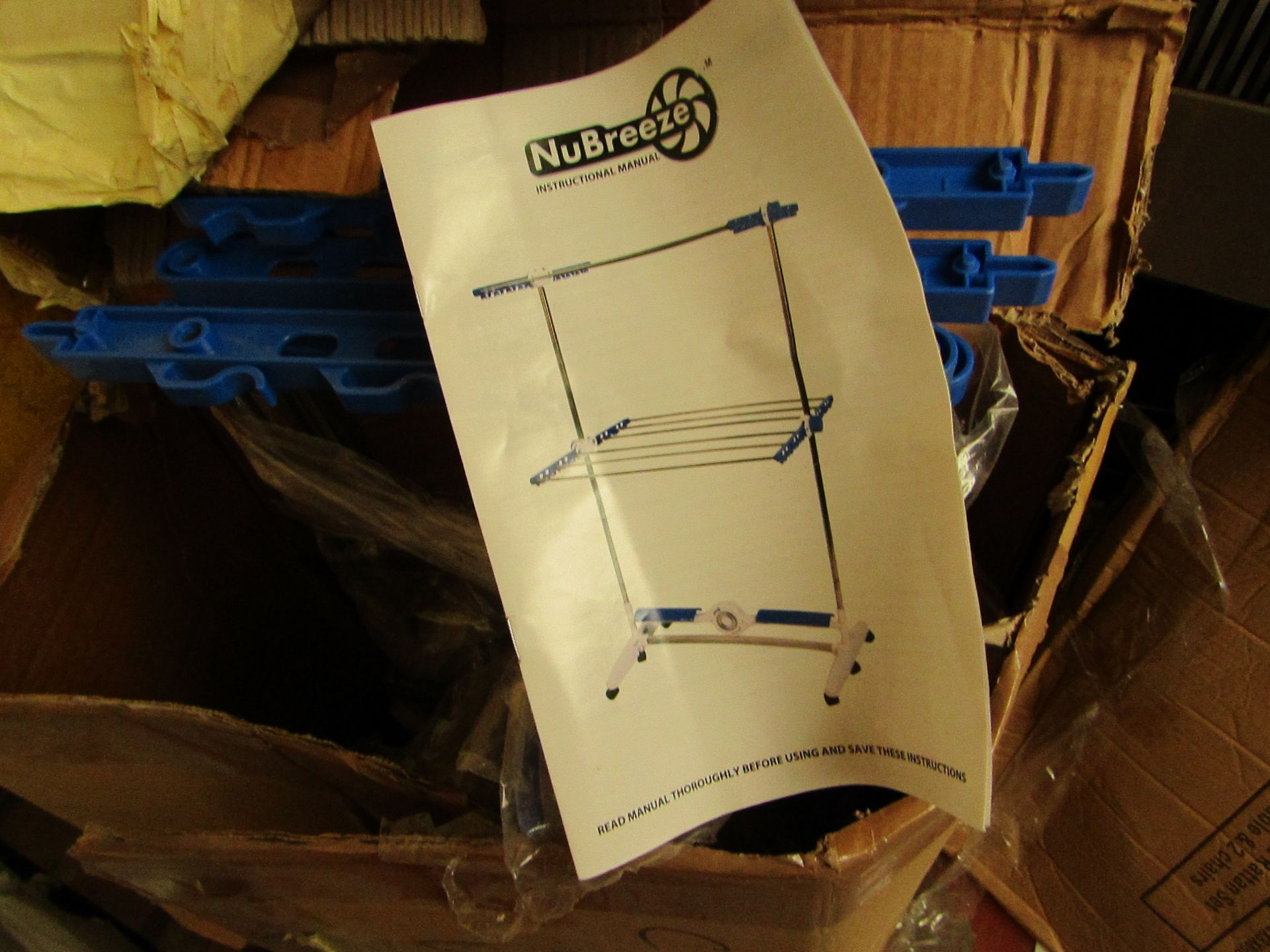 Lot 235 - | 1X | NUBREEZE DRYING SYSTEM | UNCHECKED AND BOXED | NO ONLINE RE-SALE | SKU C5060541513952 |