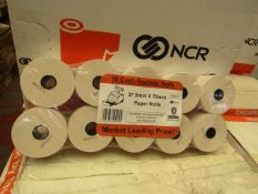 Box of 100x NCR Paper Rolls - New Packaged & Boxed.