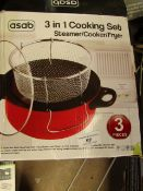 Asab 3 in 1 Cooking Set. Boxed but unchecked