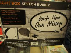 Light Box - Speech Bubble - Untested & Boxed.