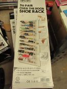 3x Asab - 36 Pair Over the Door Shoe Rack - Unchecked & Boxed.