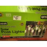 Asab Stainless Steel Solar post Lights. 10 Pack. Unchecked