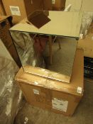 La Redoute Mirrored Side Table. 30cm x 30cm x30cm. Unused & Boxed. RRP £155