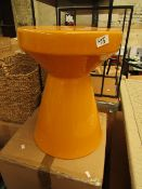 La Redoute Mustard Side Table. Has a small chip on the top but nothing major. RRP £99