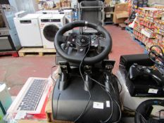 Logitech G29 driving force racing wheel and pedals set, unchecked. RRP £245.00 | Compatible with