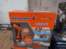 | 1X | RENOVATOR TWIST A SAW WITH ACCESSORY KIT | MAIN UNIT IS TESTED WORKING BUT WE HAVEN'T CHECKED