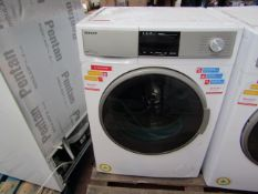 Sharp 1400RPM 9/6Kg washing/dryer, seller has checked these items and have informed us they are