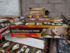 3 X Vitrex Floor Warm 2m2 underfloor heating for wood, new and boxed.