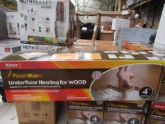 Vitrex Floor Warm 4m2 underfloor heating for wood, new and boxed.