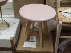 | 1X | LA REDOUTE PINK TOPPED SIDE TABLE | LOOKS UNUSED BUT HAS A SCRATCH ON THE SIDE AND COMES WITH