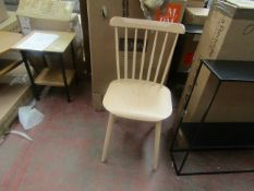 | 2X | AM PM IVY NATURAL SOLID WOOD CHAIRS | LOOKS UNUSED AND COMES WITH BOX | RRP £299 |