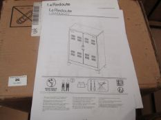 | 1X | LA REDOUTE WARDROBE | COMPLETELY UNCHECKED FOR ALL PARTS AND DAMAGE AS FLAT PACKED AND