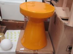 | 1X | LA REDOUTE MUSTARD MATMAT COLOURED CERAMIC SIDE TABLE | LOOKS UNUSED BUT MAY HAVE