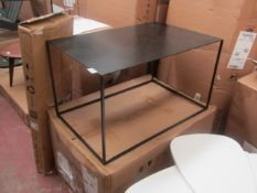 | 1X | AM PM LARGE ROMI METAL SIDE TABLE 70X45CM | LOOKS UNSUED AND COMES BOXED | RRP CIRCA £130 |