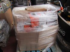 | 1X | PALLET OF APPROX 50X VARIOUS ITEMS SUCH AS PAINT RUNNER PRO'S, NUTRI BULLETS AND MORE |