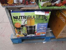 | 1X | NUTRI BULLET RX | UNCHECKED AND BOXED | NO ONLINE RESALE | SKU C5060191461238 | RRP £119.99 |