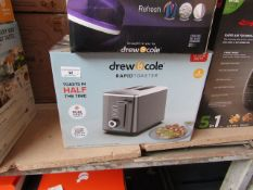 | 1X | DREW AND COLE TOASTER | UNCHECKED AND BOXED | NO ONLINE RE-SALE | SKU- | RRP £39.99 | TOTAL