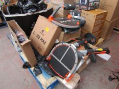 | 1X | PALLET OF APPROX 8X VARIOUS ITEMS SUCH AS SQUAT MAGICS, CORE MAX'S AND MORE | UNCHECKED AND