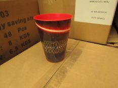 Box of 24 Star Wars Plastic Cups. New & Boxed.