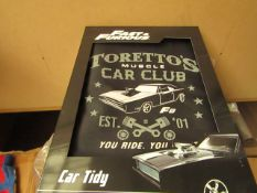 Fast&Furious - Car Tidy - Packaged.