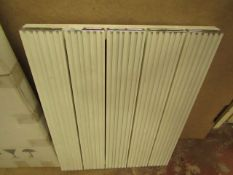 White & Chrome Wall Mounted Radiator 470x600mm - Unboxed.
