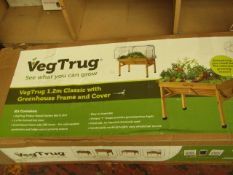 Veg Trug 1.2m Classic with Greenhouse Frame & Cover. RRP £159.99  Robert Dyas  Looks Unused &