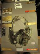Plantronics Gear Up Rig 400 Forest Camo Headphones RRP £49.99 boxed  (Sticker says Customer