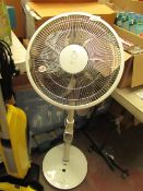 NSA SFDC 30213RC Floor Standing rotating Fan with remote. RRP £129.99 @goelectrical. Tested