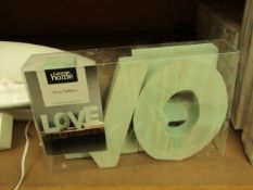 2 x George Home Love Letters. Unused & packaged