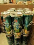 18 Cans of John Smiths Extra Smooth. BB 28/2/21
