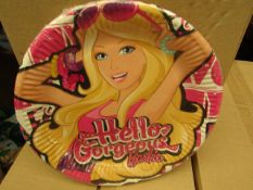 2 Boxes of 24 packs of 6 Barbie Paper Plates. New & Packaged