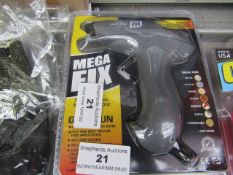 Mega Fix Professional Multi Purpose Mini Glue gun, new and blister packed with 2 glue sticks