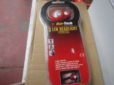 Am-Tech - 3 LED Headlight (Super Bright) - New & Packaged.