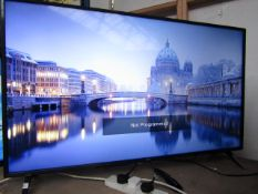 LG 50UM7500PLB smart 4K tv, tested working with remote control and stand, no box, sticker on the