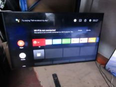 """Sony KD55XG8196 55"""" smart LED TV, tested working with remote control, missing stand and box"""