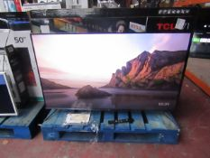 """TCL 55TCL715K 55"""" Smart 4K QLED TV tested and working with original box, remote control and stand."""