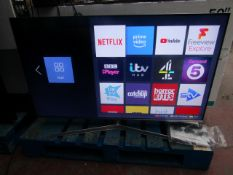 """Hisense H50U7BUK 50"""" smart 4K ULED TV tested and working with 2 remote controls, stand and"""