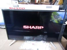 """Sharp Aquos LC-24DHG6131KF 24"""" smart Led TV with Built in DVD player, the TV part is Tested we"""