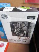 Coolmaster Hyper 212 Evo 4 direct contact heatpipe CPU cooling system, boxed and unchecked