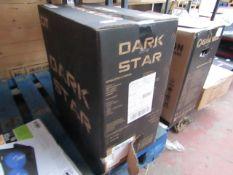 CIT Dark star black gold PC case, looks to be still sealed just damaged box