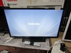 """Toshiba 32W2863DB 32"""" Full HD LED Smart TV, tested working with original box and remote control."""