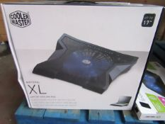 Cooler master Notepal XL laptop cooling pad, unchecked and boxed
