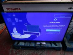 Toshiba 58U2963DB Smart 4K HDR TV with Alexa Built in, tested working with stand, remote control and
