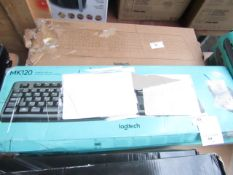 Logitech MK120 keyboard set, unchecked and boxed