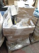 | 1X | PALLET OF WHAT LOOKS TO BE STEEL CASE ADJUST ABLE OFFICE DESKS PARTS, UNMANIFESTED, WE HAVE